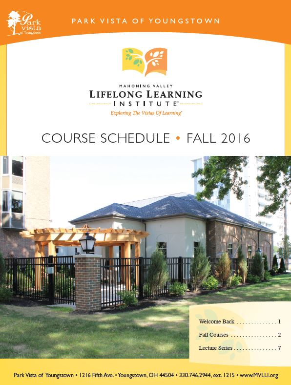 Fall 2016 course schedule